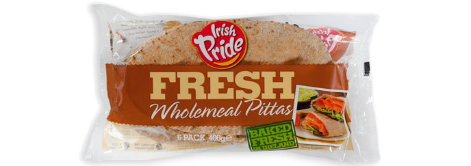 Irish Pride Fresh Wholemeal Pitta 6pk