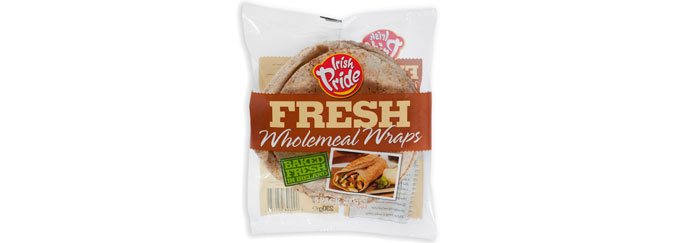 Irish Pride Fresh Wholemeal Wraps 5pk